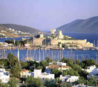 Bodrum harbour and castle